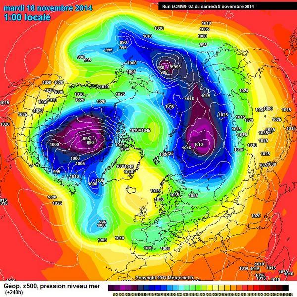 splitsing polar vortex in 2014