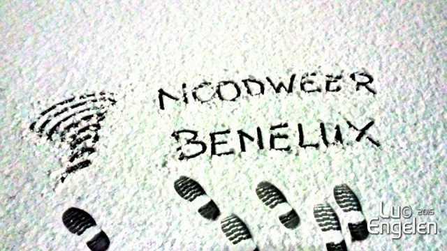 noodweer benelux in de sneeuw