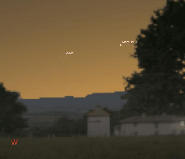 Smalle maansikkel en Mercurius