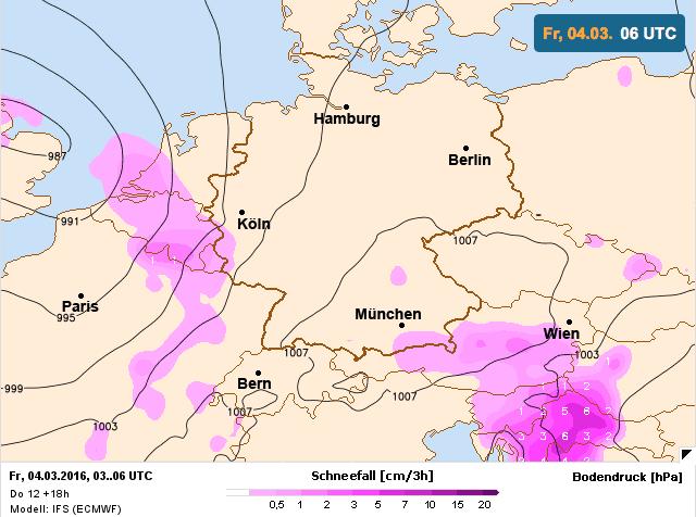sneeuwkansen volgens ecmwf vrijdag