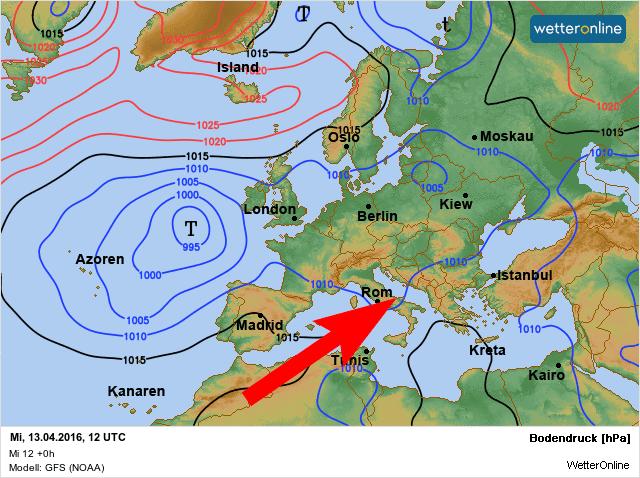 warmte zuid-europa