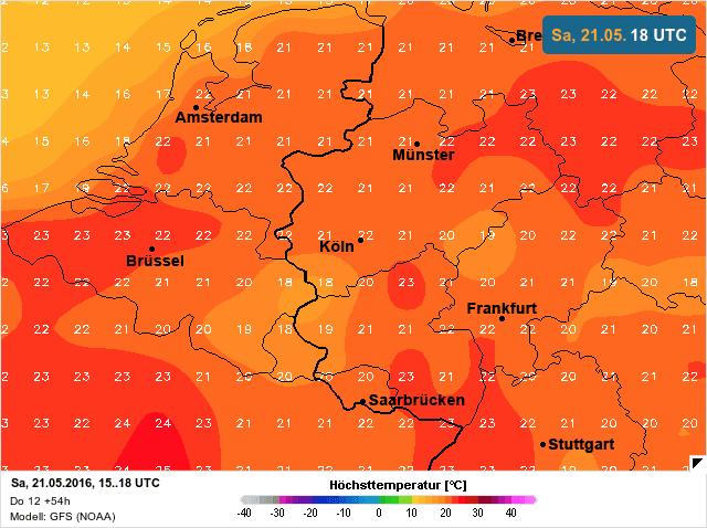 hoge temperaturen 21 mei 2016