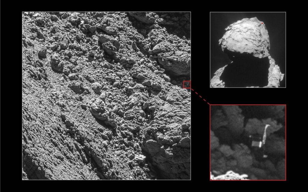 Landingsplaats van de sonde Philae