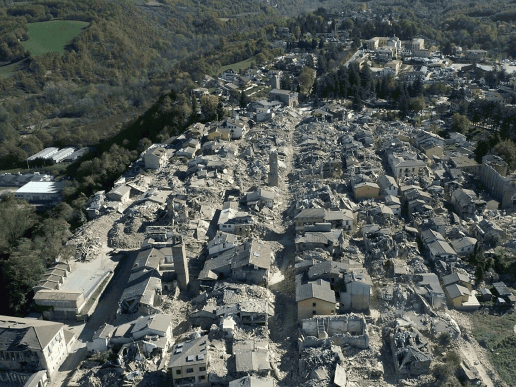 Vernielde stad