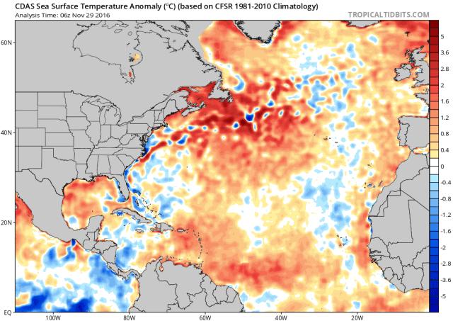analyse eind november 2016 atlantische oceaan