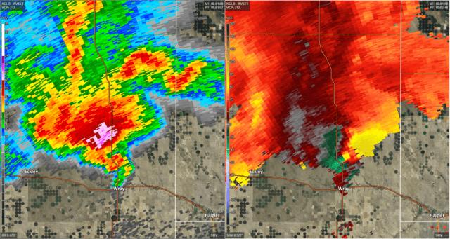 radarbeeld tornado wray