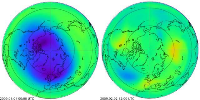 temperatuur stratosfeer op 30 km