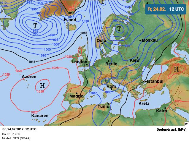 noordelijke luchtcirculatie zorgt voor winterse buien