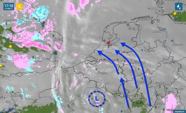 sneeuw vannacht met focus op Nederland