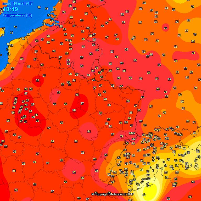 temperatuur 16 mei
