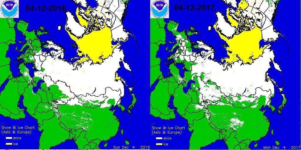 Sneeuwdek Eurazië