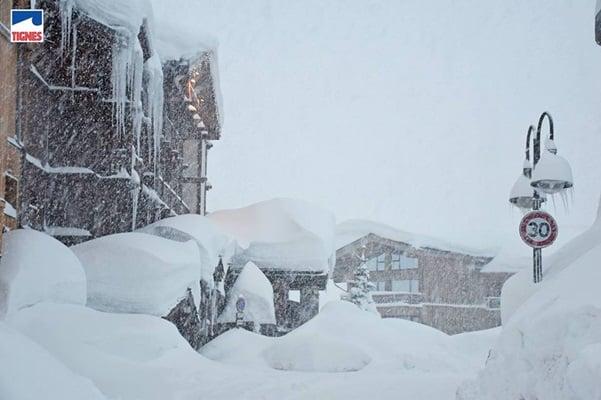 Sneeuwval Tignes