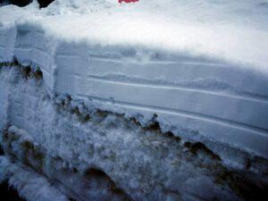 Onstabiele sneeuwlaag