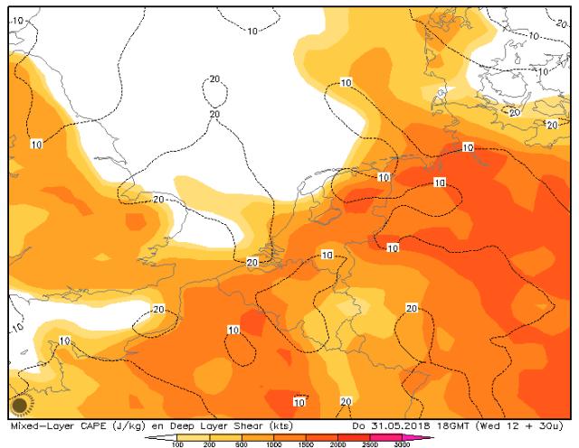 hoge onstabiliteit boven Benelux
