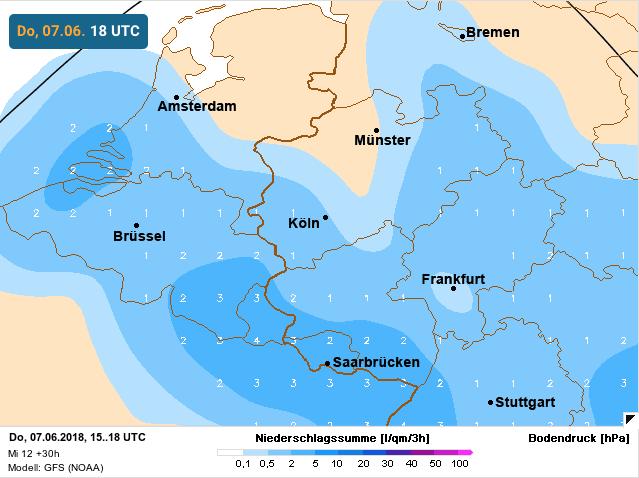 neerslagsignalen aanwezig boven België