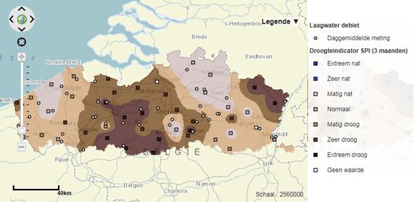 Actuele droogtetoestand Vlaanderen