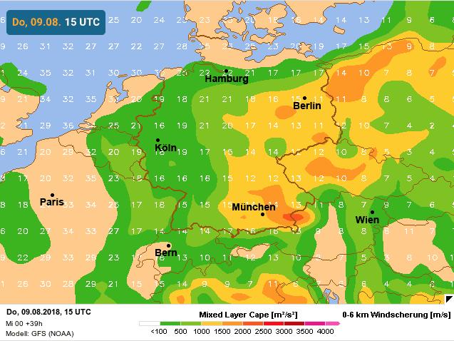 hogere cape boven westen van Duitsland