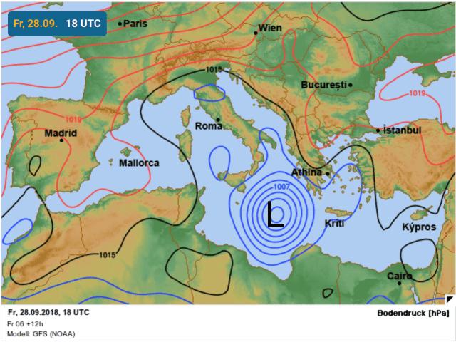 locatie subtropische storm zorba op vrijdag