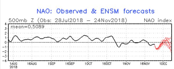 NAO-index voor volgende weken.