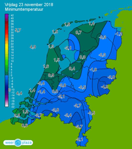 Minima Nederland 23 november