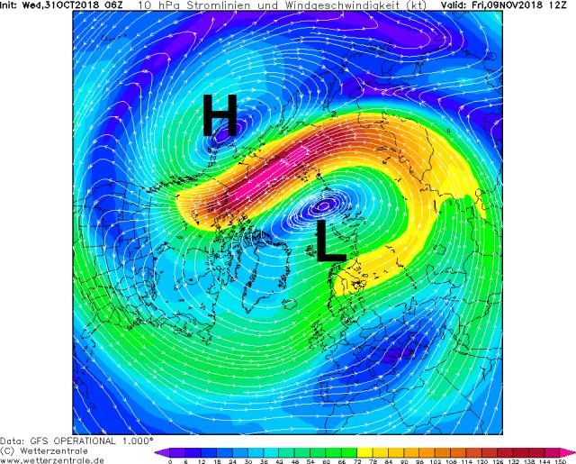 stratosfeer vrijdag 9 november