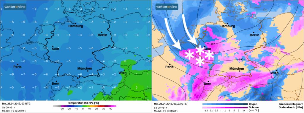 Vanaf zondagavond terug sneeuwval in de Ardennen door sterk afkoelende bovenluchten.
